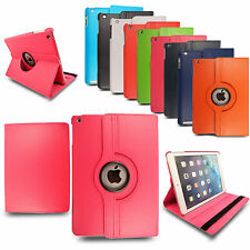 Genuine Leather PU Smart Flip Wallet Rotating Case Cover For Apple iPad Air/Pro