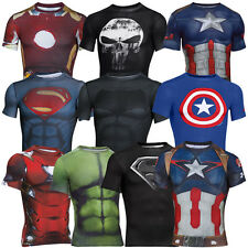 UNDER ARMOUR SUPERMAN BATMAN CAPTAIN AMERICA COMPRESSION SHIRT HERREN SUPERHELD