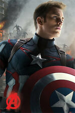 Avengers - Age Of Ultron - Captain America - Cartoon Comic Poster