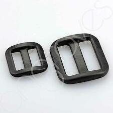 37MM BLACK PLASTIC TRI GLIDE ADJUSTER SLIDER TRI-GLIDE BUCKLES ART WA38-S