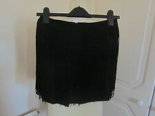 BNWT ASOS SOLD OUT WOOVEN BLACK HIGH WAISTED SHORTS WITH FRINGIN MANY SIZES