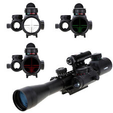 HOT 3-9X40 illuminated Tactical Rifle Scope w/ Red Laser & Holographic Dot Sight