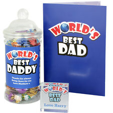Personalised Worlds Best Dad Daddy Grandad Gift Ideas Fathers Day Birthdays