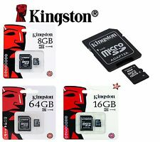 KINGSTON MICRO SD 4 / 8 / 16 GB CLASSE 4 / 10 MICROSD SCHEDA MEMORIA MEMORY CARD