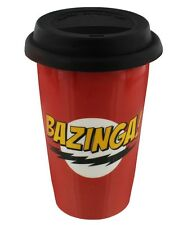 The Big Bang Theory Bazinga Red TBBT Travel Mug 9.7x15.5cm