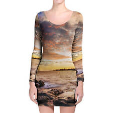 Sunset Coast Longsleeve Bodycon Dress XS-3XL All-Over-Print