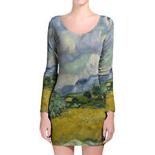 Vincent Van Gogh Fine Art Painting Longsleeve Bodycon Dress XS-3XL All-Over-Prin
