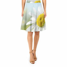 Daisies in Sunshine A-Line Skirt XS-3XL Flared Skirt