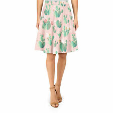 Cactus In Bloom A-Line Skirt XS-3XL Flared Skirt