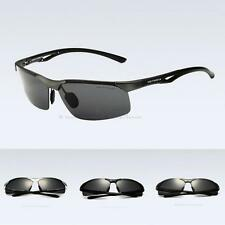 Mens Nice Polarized Half Frame Sunglasses UV 400 Protect Driving Glass Eyewear