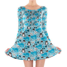 Artic Animals Longsleeve Skater Dress XS-3XL All-Over-Print