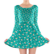Cocktail Party Longsleeve Skater Dress XS-3XL All-Over-Print