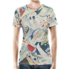 Kandinsky Abstract Art Painting Women Cotton Blend T-Shirt XS-3XL All-Over-Print