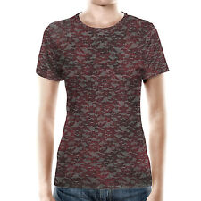 Blood Red Lace Women Cotton Blend T-Shirt XS-3XL All-Over-Print
