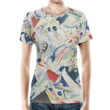 Kandinsky Abstract Art Painting Women Sport Mesh T-Shirt XS-3XL All-Over-Print