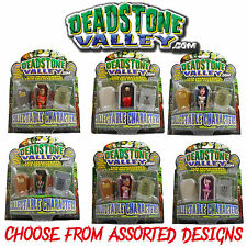 DEADSTONE VALLEY Figures /w Headstone & Coffin Halloween Gift - Assorted Designs
