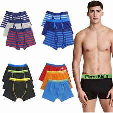 6 Pairs Boys Cotton Rich Designer Boxer Shorts Trunks Underwear 2-13 years