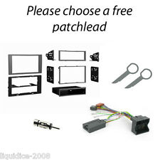 FORD FIESTA 2005 to 2008 SILVER DOUBLE DIN FACIA & STEERING WHEEL CONTROL KIT
