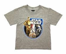 Boys Disney Star Wars T Shirt C-3PO BB-8 R2-D2 Short Sleeve Character Top Size