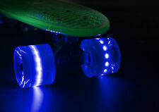 Mini Cruiser Skate Skateboard 55cm Trasparente LED Illuminano Ruote Ridge Blaze