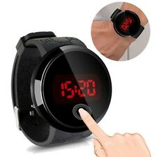 Moda Impermeabile Orologio Da Uomo A LED Touch Screen Data Silicone Polso Nero