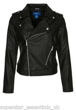 GY BNWT ADIDAS ORIGINALS Womens Faux Leather Jacket F Biker UK 10 12 14 Coat