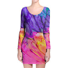 Painting In Progress Longsleeve Bodycon Dress XS-3XL All-Over-Print