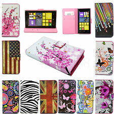 Leather Flip Stand Wallet Card Cover Case For Nokia Lumia 520 630 X 720 Phones