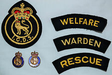 50s ICDS Industrial Civil Defence Service Badges Patches Buttons Welfare Rescue