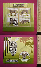 Wild Animal ZEBRA 2015 MADAGASCA perf. Sheetlet CTO Excellent NH UK