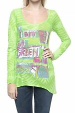 Custo Barcelona Top T-Shirt Longsleeve Shirt STERN SO GREEN NEU