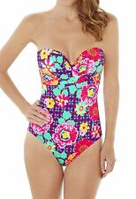 Lepel Swimwear Sun Kiss Bandeau Swimsuit 57180 Pink Multi