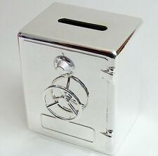 Silver Plated Safe Deposit Money Box, Personalised Engraved Gift