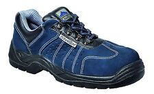 Perforated Safety Work Trainers Boots Shoes Low Cut Toe Cap Slip Resistant FW02