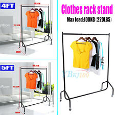 New Heavy Duty Garment Clothes Rail Stand Rack Holder Home Shop Display Hanging