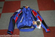 BELSTAFF BLUE / PURPLE / RED MOTORCYCLE RACING & SPORTS JACKET SIZE - SMALL