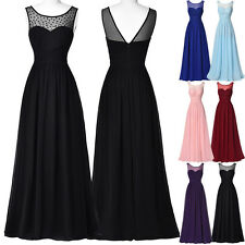 Summer Womens Formal Long Chiffon Evening Party Bridesmaid Dress Prom Ball Gown
