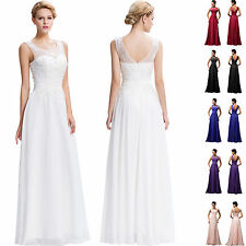 Chiffon Lace Wedding Evening Formal Party Cocktail Gown Bridesmaid Prom Dress