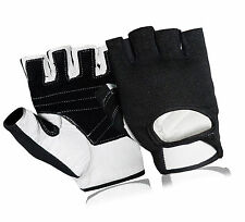 Weight lifting Leather Gym Fitness Training Sports Gloves Cycling Bike Driving