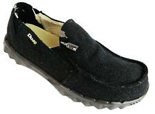 Hey Dude Farty Chalet Men's Black Felt Faux Fur Lined Slip On Canvas Loafers New