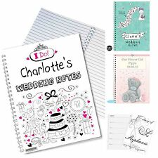 Personalised Wedding Notebook Diary Diaries Wedding Planner Engagement Gift Idea