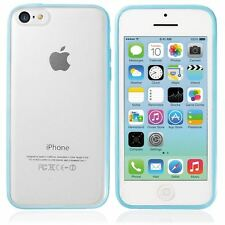 PLASTIC TPU GEL BUMPER SEMI TRANSPARENT FROSTED BACK CASE COVER FOR IPHONE 5C
