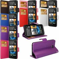 PU Leather Wallet Flip Case Cover For Various HTC Smartphones