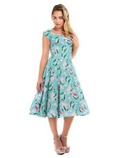 BNWT NEW COLLECTIF 40S 50S VINTAGE RETRO FULL CIRCLE PIN UP GIRL DRESS 12 DOLORE