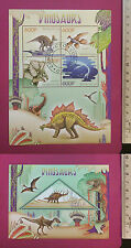 Prehistoric DINOSAURS stamp 2014 Congo perf Sheetlet CTO stamped Excellent NH UK