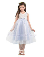 Flower Girl Dress Kids Pageant Birthday Wedding Bridesmaid Gown Princess Dresses