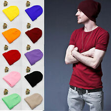 Unisex Men Women Fashion Warm Cuff Fancy Acrylic Knit Ski Beanie Skull Cap Hat