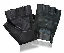 Leather Cycling Gloves Cycle Bicycle Padded Fitness Exercise Gym Weight Lifting
