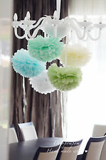 50 tissue paper pom poms - choose size - wedding party decorations - multi color