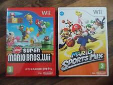 Wii NEW SUPER MARIO+MARIO SPORTS MIX-BOTH COMPLETE-NINTENDO Wii/Wii U-TESTED